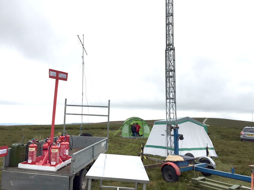 showing the 70cm station and the fire point
