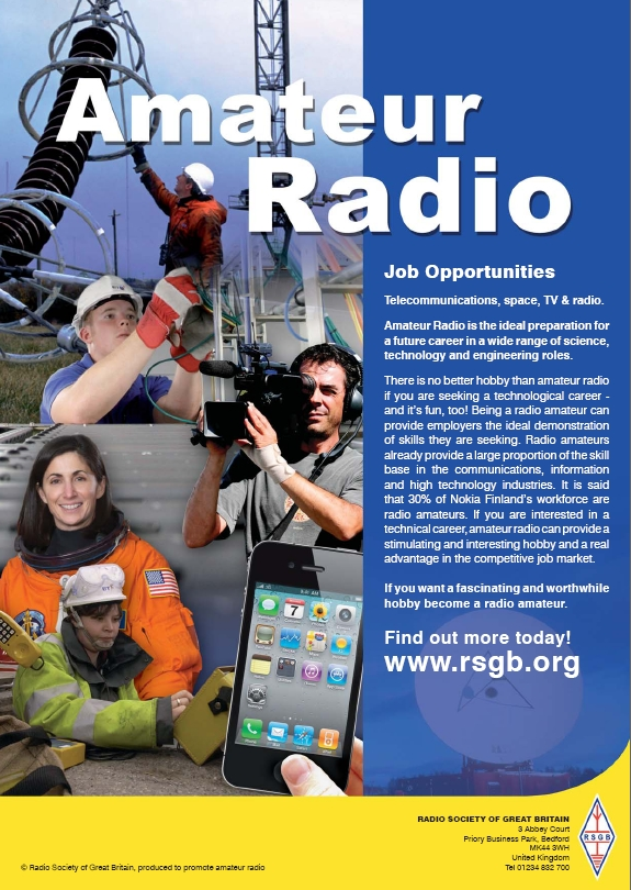 Careers in radio - contact the RSGB