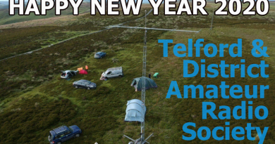 Photo of TDARS portable contest station on top of Long Mynd and wishing everyone a happy new year for 20202