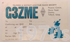 TDARS 1970s QSL card