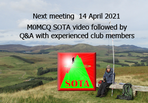 SOTA themed meeting advert TDARS 14 April 2021 via webex