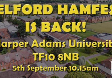 Telford Hamfest is back for 2021 September 5 at Harper Adams University TF108nb