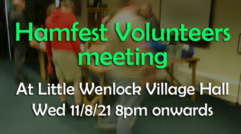 Hamfest volunteers meeting Aug 11